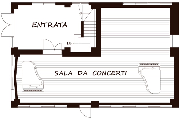 1階SALA DA CONCERTI見取図