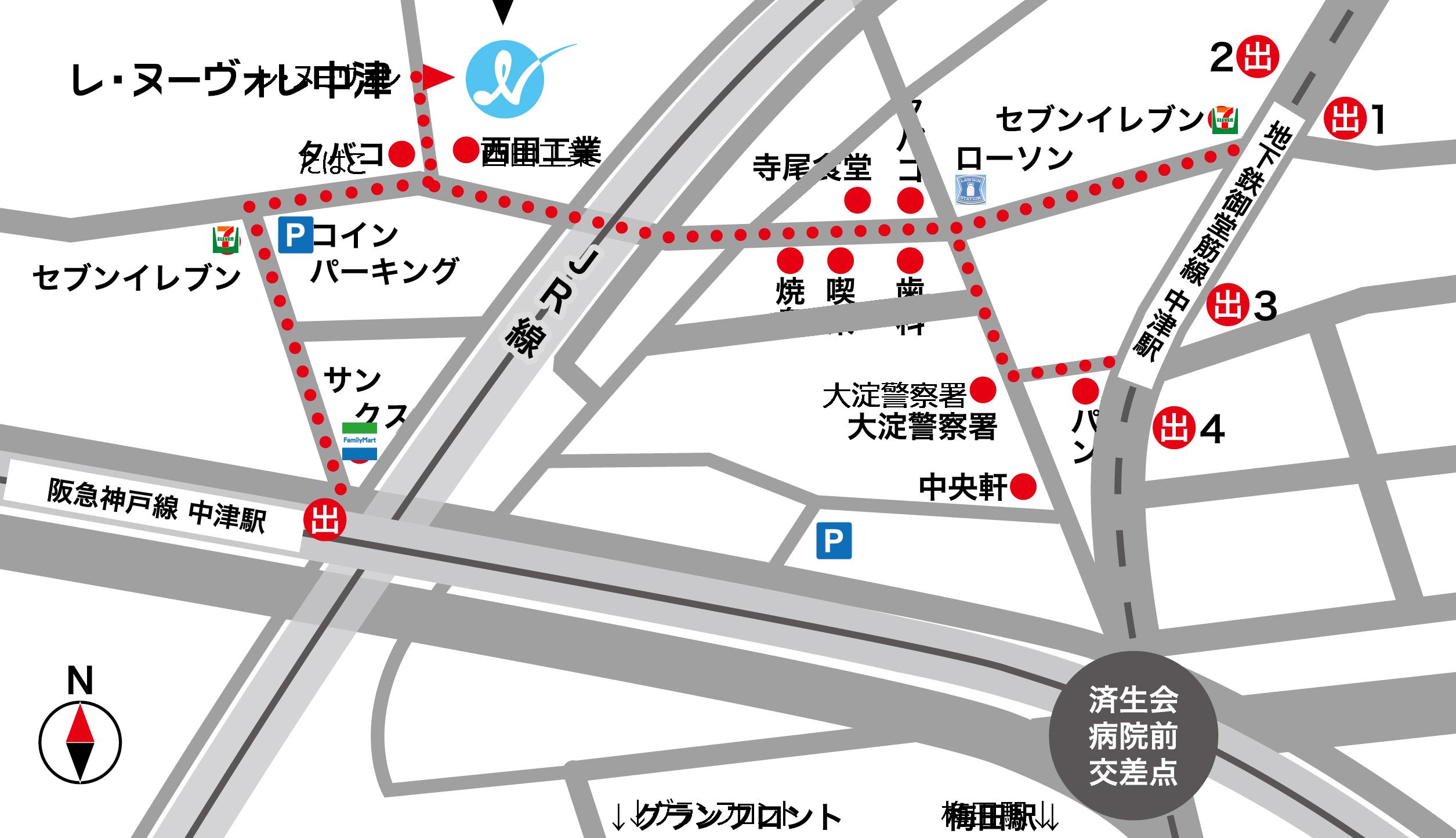 LE NUVOLE(レ・ヌーヴォレ)の地図